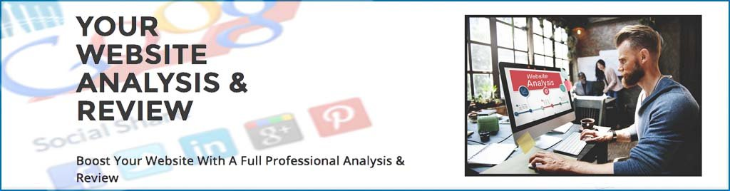 Website Analysis And Review Banner