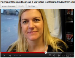 Claire Permanent Makeup Marketing Course Student Review