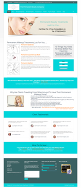 Permanent Makeup Website Design Package 2