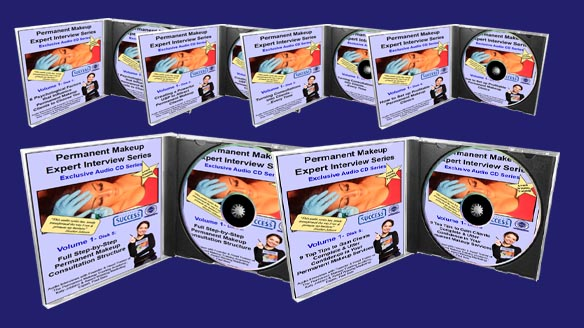 Permanent Makeup Expert Interview Series 6 CD Covers