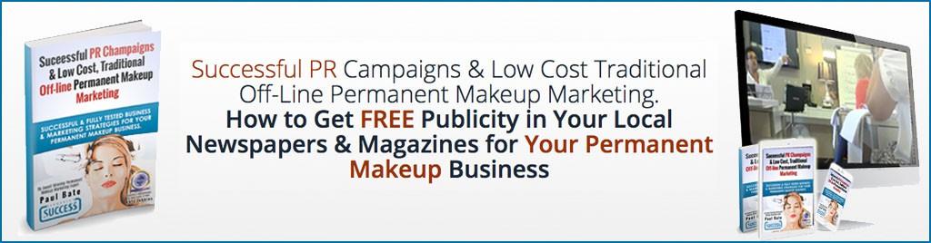 Successful PR & Offline Permanent Make-up Marketing Banner