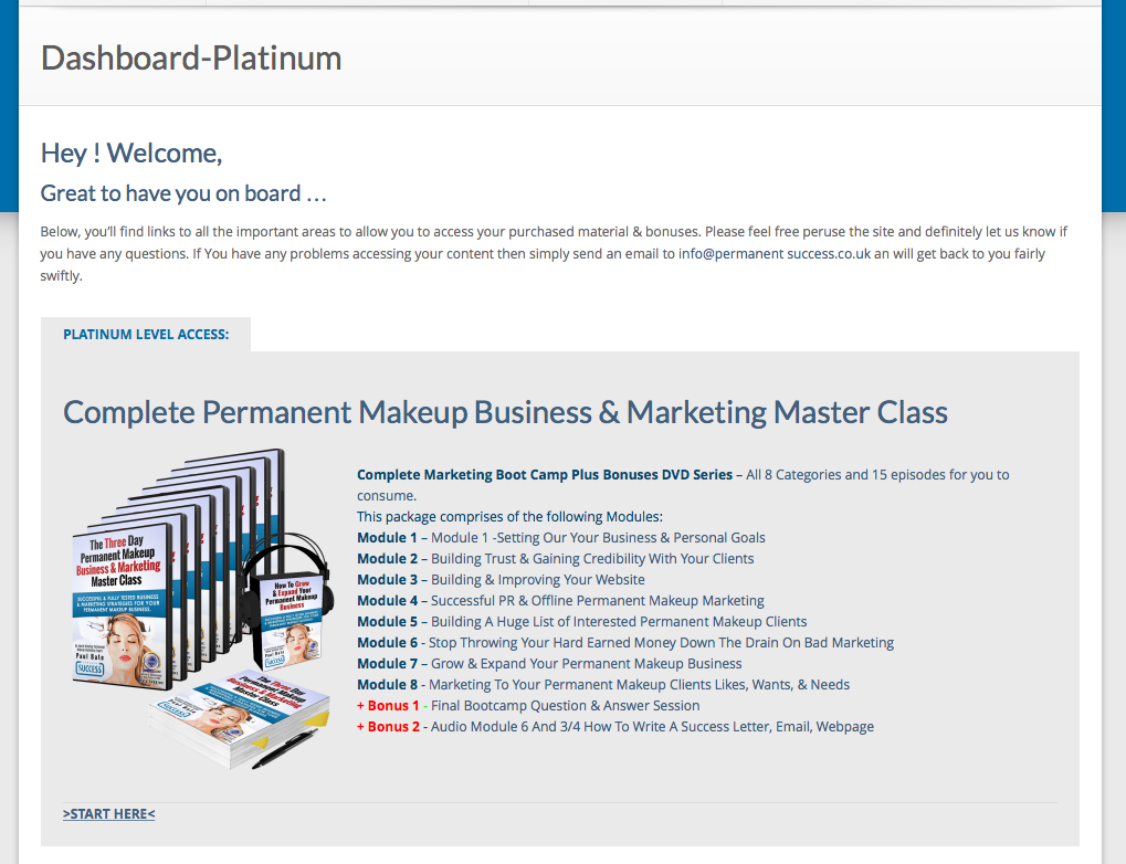 Platinum Level Access To Business & Marketing Master Class