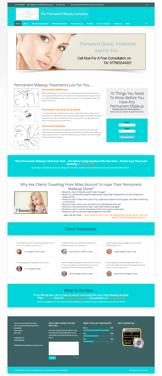 Permanent Makeup Website Design Package 2