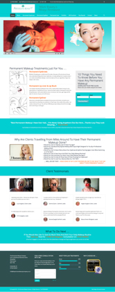 Permanent Makeup Website Design Package 3