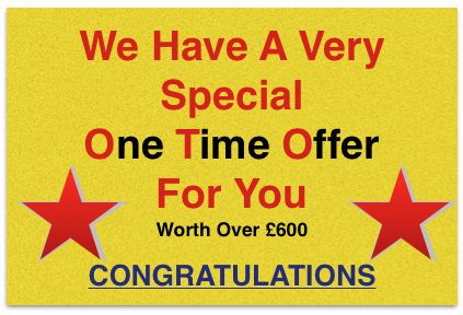 One Time Special Offer