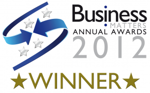 BUSINESS MATTERS AWARDS WINNER LOGO THE PERMANENT MAKEUP TRAINING ACADEMY WINNER