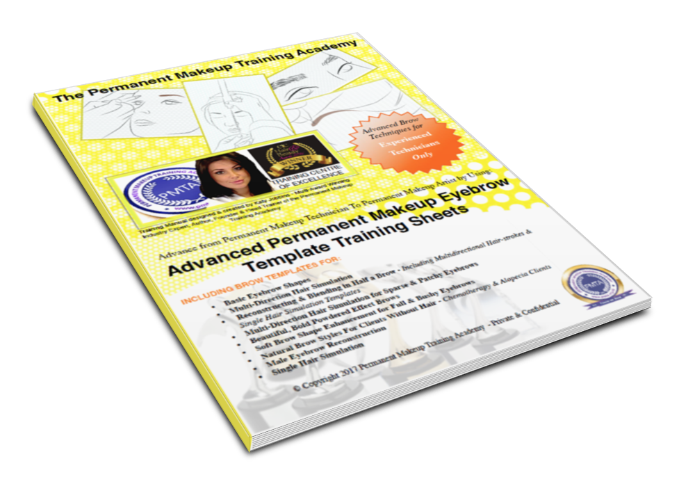3D eBook Cover for Advanced Eyebrow Training Sheets